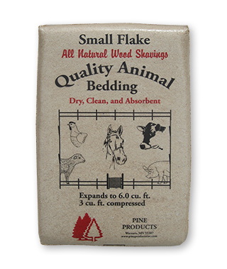 small flake bagged shavings